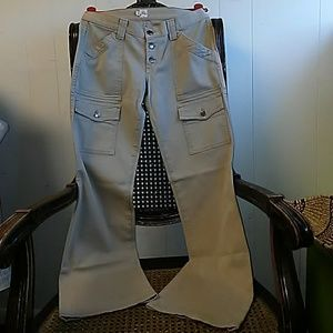 Joie Khaki cotton blend twill cargo pants size 27